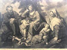 San Giuseppe, la Vergine Maria, Sant'Anna e San Giovanni Battista;mezzotinto1766