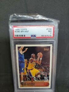 1996 Topps Kobe Bryant #138 PSA 7 NM Rookie HOF
