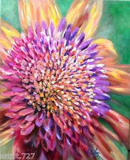 """Cornflower"" Original Acrylic Painting Canvas Artist Signed 24""x 30""Gallery Wrap"