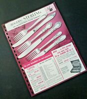 Vintage ROGERS STERLING Flatware 1962 Pages from Manar Sales Catalog