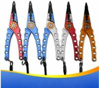 """Backwater Outfitters 7"""" Aluminum Fishing Needle Nose Split Ring Pliers w/ Sheath"""