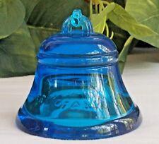 "Vintage Fenton ""Telephone Pioneer's of America"" Peacock Blue Commemorative Bell"