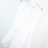 F&F White Cotton Womens Babydoll Top Size S