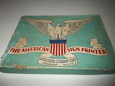 Vintage Stamper Kraft American Sign Printer Rubber Stamp Set #4110-B