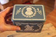 Vintage Tea Caddy / Storage Tin – Classical / Wedgwood Designs – Retro! –