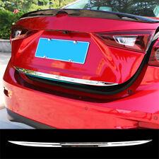 For Mazda 3 Sedan 2014-2018 Chrome Rear Trunk Tailgate Door Lid Cover Trim Strip