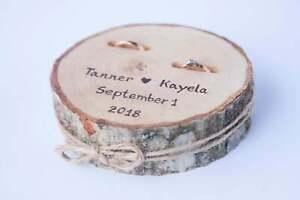 Rustic wood ring bearer pillow, wedding ring holder, rustic ring box