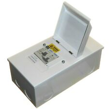 Metal Shower Consumer Unit 80A 30mA RCD Trip Switch with 40A or 50A MCB Breaker