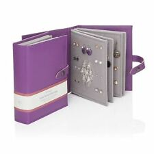 Large Little Book Of Earrings Purple 4 Page Jewellery Storage Box Book Gift