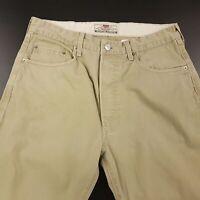 Levi's 401 Mens Vintage Jeans W32 L32 Beige Regular Fit Straight High Rise