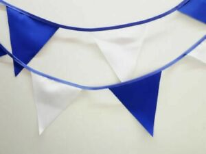 Leicester City bunting colours ** 10 mtr ** Royal blue and White