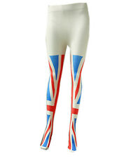 Womens Gipsy Tights Union Jack Print One Novelty Fancy Dress Size 1327 British