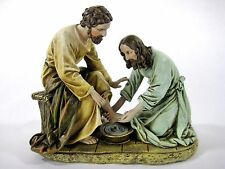 Jesus Washing Feet Christ Disciples Statue Figurine Religious Decor 8.5 Inch