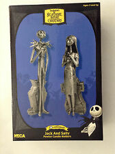 TIM BURTON'S NIGHTMARE BEFORE CHRISTMAS JACK AND SALLY PEWTER CANDLE HOLDER NECA