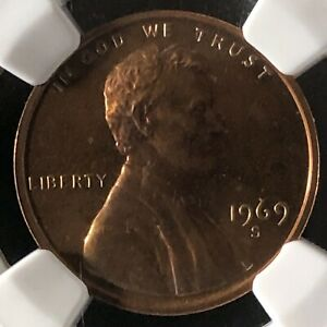 1969-S 1C RB PROOF Lincoln Memorial One Cent NGC PF66RB        3512421-019