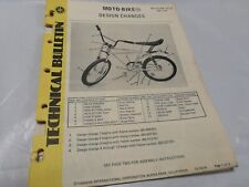 1974 Yamaha Motorbike SUPER RARE TECHNICAL SERVICE BULLETIN MOTO BIKE COPY