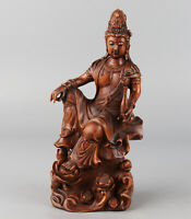 Chinese Exquisite Hand-carved Guanyin Carving Boxwood statue