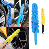 Car Wheel Wash Brush Plastic Handle Sponge Tire Rim Cleaner Tool Kit Auto Parts