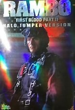 HOT TOYS MMS 11 JOHN J RAMBO FIRST BLOOD PART II HALO JUMPER VER. MIB USA SELLER