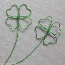 5 x Kleeblatt Stecker Metall  7 cm grün Glücksbringer