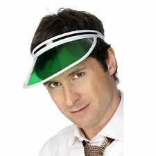 Adults Unisex Green Poker Tennis Sports Visor Student Pub Golf Fancy Dress Hat