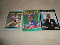 Lot of 3 Ryne Sandberg Chicago Cubs baseball cards Man of the year card