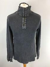 CALVIN KLEIN Jumper Sweater Size M Medium - 1/4 Zip - Grey