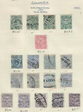Colombia,Scott#112-115,Small Collection,18 stamps,Dif.colors,MH & used
