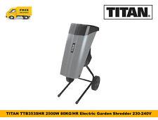 TITAN TTB353SHR 2500W 80KG/HR Electric Garden Shredder 230-240V