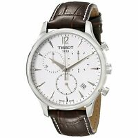 Tissot T0636171603700 T-Classic Tradition Men's Chronograph Brown Leather Watch