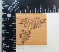 Embossing Arts Floral Corner Leaves Rubber Stamp