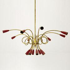 Lampadario a 8 bracci e 16 luci, anni '50, Stilnovo style, 50's chandelier