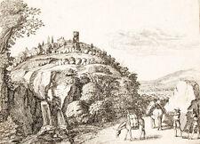 c1650 Italien Italia Italienreise Kupferstich-Ansicht Herman Saftleven (?)