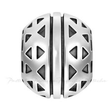Lovelinks Bead Sterling Silver, Two Sided Triangle Pyramid Designs Charm TT577