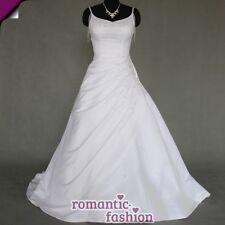 ♥Elegantes Brautkleid, Hochzeitskleid in Weiß oder Creme+Größe 34-54+NEU+W053♥