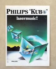 E834- Advertising Pubblicità -1986- PHILIPS KUBO , LASER MUSIC