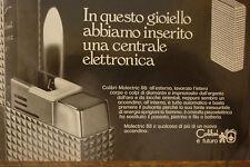 ADVERTISING PUBBLICITA' ACCENDINI COLIBRI' MOLECTRIC 88   - 1972