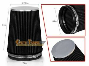 """6"""" Cold Air Intake High Flow TRUCK FILTER Universal BLACK For Jeep/Land Rover"""