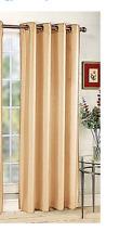 Belle Maison Tribecca Faux-Silk Grommet Window Panel, Crimson, 56 x 84, Tribeca