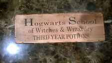 HOGWARTS SCHOOL - THIRD YEAR POTIONS. HARRY POTTER WOODEN BOX crate