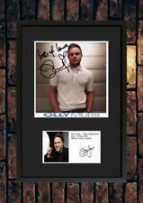 More details for (#241)  olly murs signed a4 photo/framedunframed (reprint) great gift @@@@@@@@@@