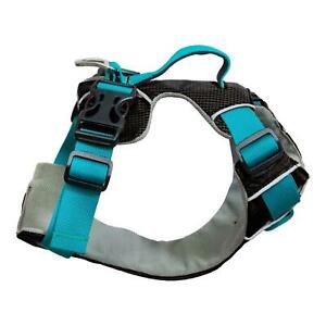 Sotnos Dog Travel Safety Walking Harness Teal Training Grab Handle Adjustable