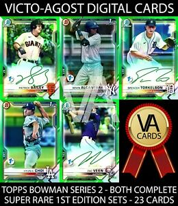 """Topps Bunt Bowman S2 BOTH """"1st"""" FIRST EDITION SUPER RARE SETS - 23 Cards [BUNT]"""