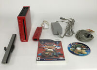 Nintendo Wii Red Console Bundle 2 Games 1 Wii Remote 1 Nunchuck And More Tested