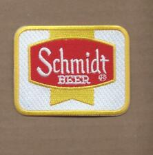 NEW 2 3/8 X 3 INCH SCHMIDT BEER IRON ON PATCH FREE SHIPPING