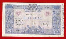 (Ref: Q.145)  1000 FRANCS ( BLEU ET ROSE ) 27/11/1920 (TB+)
