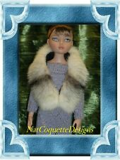 ~ Cross Mink Fur Paw For Evangeline Ghastly, Ellowyne Wilde Dolls~