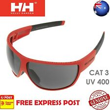 HELLY HANSEN MEN'S FJORD SPORTS GOLF CYCLING SURFING SAILING SUNGLASSES - RED