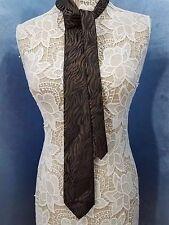 Envoy Zebra Stripe Brown & Black Exotic Men's Tie 100% Polyester
