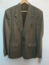 Mans Jacket Blazer 40 in R Green check M Regular Sergio Rossi Sports Coat Races